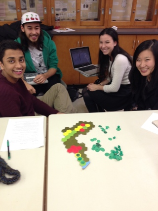Students learn about early farming with the game